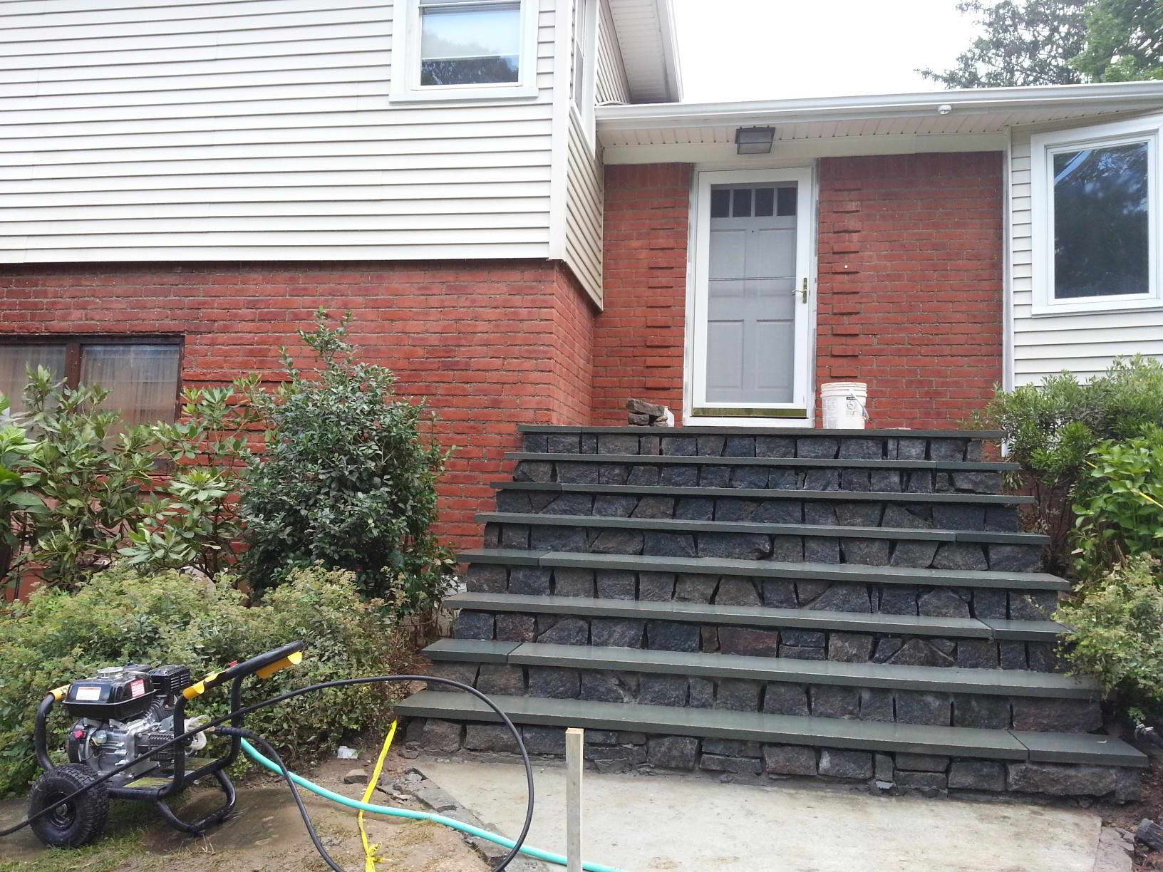Paint removal stripping from concrete brick metal surfaces vacublast melbourne for Stripping paint from brick exterior